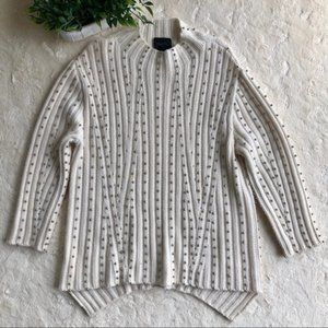 Magaschoni off white cashmere sweater silver beads